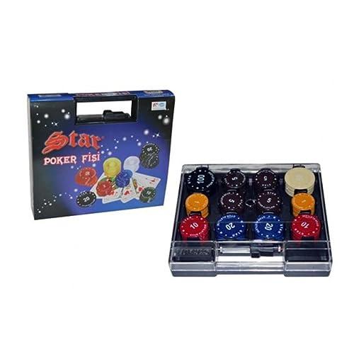 Staroyun Staroyun608602618x 21x 4.5cm Plastique Jeton de poker avec sac (90-piece)