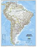 South America Classic, tubed Wall Maps Continents: NG.PC620069 (Reference - Continents)