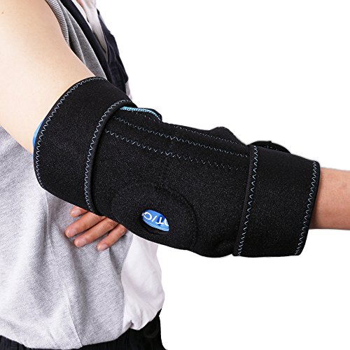Gel Pack with Elbow Support Wrap for Cold Hot Therapy by LotFancy – Hot Cold Ice Pack for Injuries, Sprained Elbows, Tendonitis, Arthritis, and Other Sports Injuries, FDA Approved