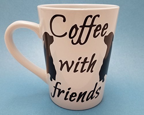 [Coffee with Friends Dog Lover Custom Two Sided Mug CHOOSE Your Color (14oz)] (Donut Costume Pinterest)