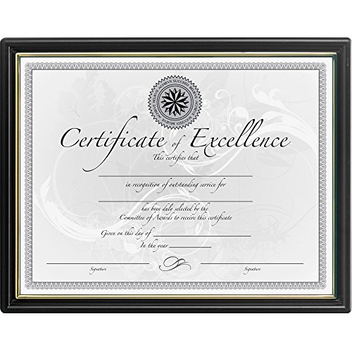 DAX Burnes Home Accents N118818T Certificate Frame,Value Pack, 8-1/2