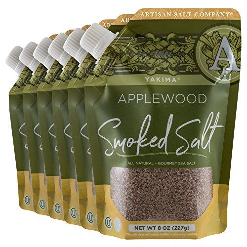 - Yakima Applewood Smoked Sea Salt, Pour Spout Pouch, 8 oz, Case of 6