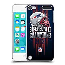Official NFL New England Patriots 1 2017 Super Bowl Li Champion Hard Back Case for iPod Touch 5th Gen / 6th Gen