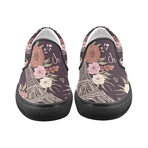 Womens Sneakers Canvas Unique Fashion Custom on Shoes Debora Multicoloured1 Slip Unusual Loafers qxtIS