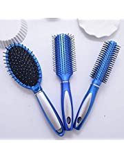 3 Pieces Hair Brush Set Detangling Anti-static Paddle Hair Tail Comb Wet Dry Brush for Women Men Hair Styling