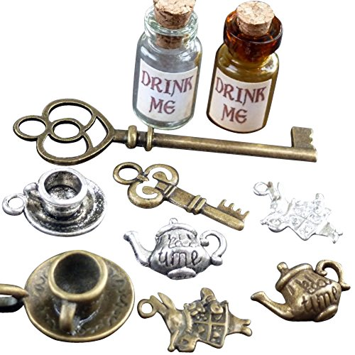 UMBRELLALABORATORY Alice in Wonderland party supplies,favors, Fairy Drink me costume ()