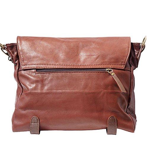 Marron 6141 À Market Avec Èpaule Foncé Florence Sac Leather Rabat marron qZPa88