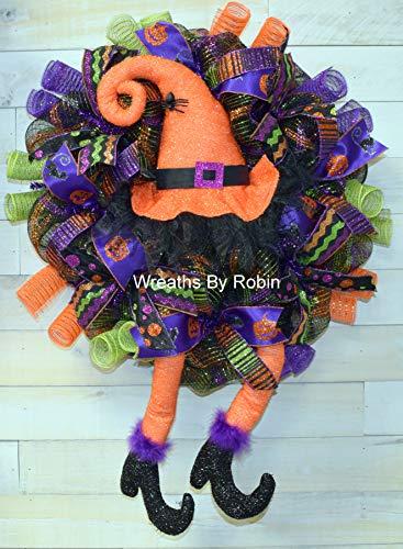 Halloween Wreath, Fall Wreath, Witch Wreath, 3992 -