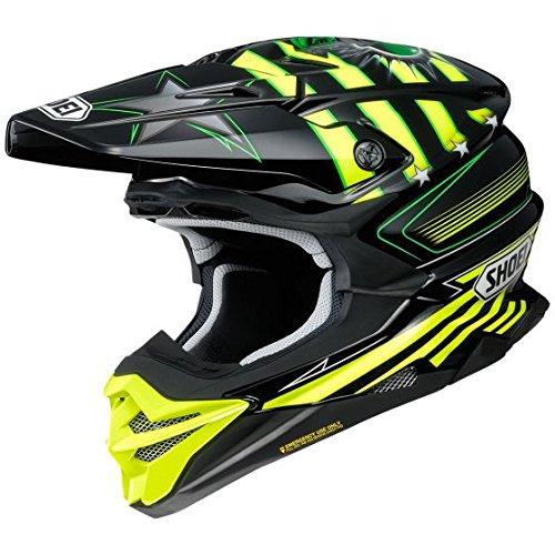 (Orange Cycle Parts Full Face Dirt Bike Off-Road MX Motocross Helmet Stars and Stripes by Shoei VFX-EVO (Medium, Grant3 TC-3, Black Neon Yellow and Green))