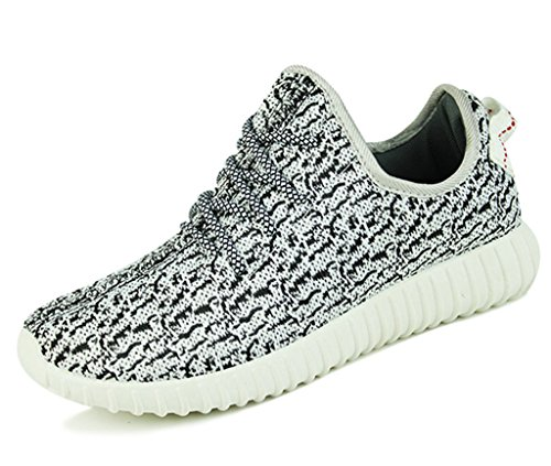 DADAWEN Men's Women's Unisex Couple Casual Breathable Fashion Sneakers Running Shoes White Men US Size 9.5