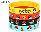 24 Count Pokemon Rubber Bracelet Wristband - Birthday Party
