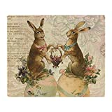 CafePress - Vintage French Easter Bunnies - Soft Fleece Throw Blanket, 50''x60'' Stadium Blanket