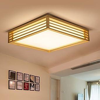 Gut PinWei_ Holz Lampe Minimalistische Holz Kreative Wohnzimmer Führte  Japanisches Hölzerne Skandinavische Schlafzimmer Deckenleuchte , Medium(