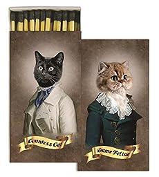 HomArt Matches - Regal Cats (Set of 3)