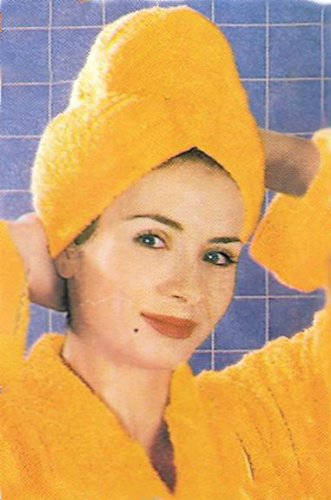 Toalla turbante para secado/tratamiento de cabello. 100% algodón. (Fucsia)