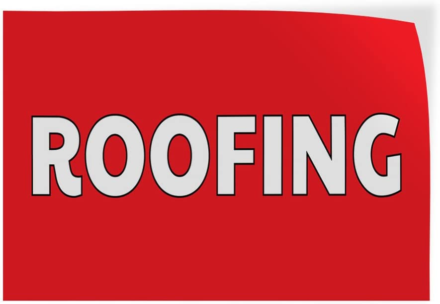 Decal Sticker Multiple Sizes Roofing #1 Business Roofing Outdoor Store Sign Red 14inx10in Set of 10