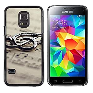 Exotic-Star ( Music Metal Note ) Fundas Cover Cubre Hard Case Cover para Samsung Galaxy S5 Mini / Samsung Galaxy S5 Mini Duos / SM-G800 !!!NOT S5 REGULAR!