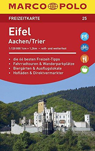 MARCO POLO Freizeitkarte Eifel, Aachen 1:120 000 (Niederländisch) Landkarte – 2. Oktober 2015 MAIRDUMONT 3829743254 Aachen / Stadtführer Stadtplan