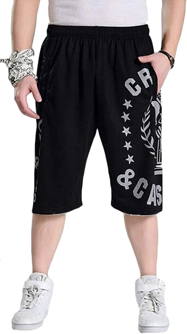 X-Future Men Gym Workout Plus Size Summer Casual Loose Fit Sport Big and Tall Shorts