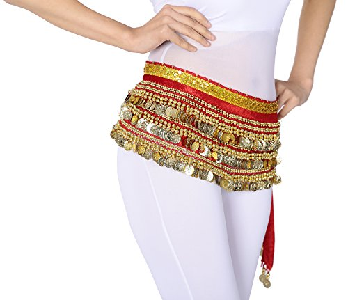 Velvet Zumba Belly Dancer Dancing Costumes Accessory Scarves Hip Scarf (Belly Dancer Costume Cheap)