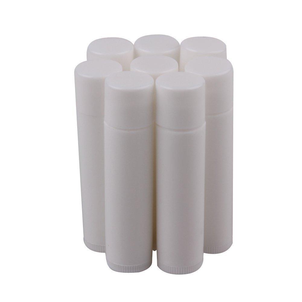 BESTIM INCUK 10-Piece Plastic Empty Lip Balm Empty Container Tubes
