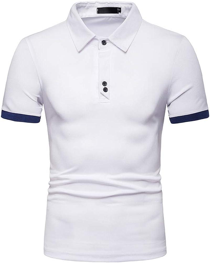 Camisa Polo Hombre Manga Corta Casual Blanco S: Amazon.es: Ropa y accesorios