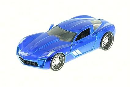 Amazon 2009 Chevy Corvette Stingray Concept Blue Jada