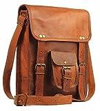 11'' Men's Genuine Leather Small Briefcase Messenger Satchel Tab Tablet Bag