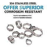 Seloky 130Pcs 7-21mm 304 Stainless Steel Cinch