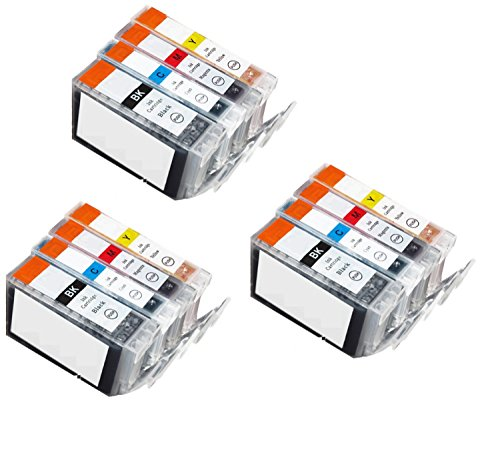 - Awesometoner 12 Pack. Compatible Cartridges for Canon BCI-3e and BCI-6. Includes Cartridges for 3ea BCI-3e Blac/ 3ea BCI-6 Cyan/3ea BCI-6 Magenta/3ea BCI-6 Yellow.