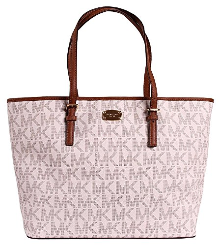 Michael Kors Jet Set Travel MK Signature Large Carryall Tote Handbag by Michael Kors