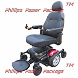 "Merits Health Products - Vision Sport - Midwheel Drive Power Chair- 19""W x 18""D - Red - PHILLIPS POWER PACKAGE TM - TO $500 VALUE"
