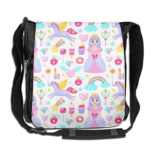 Bafrsc Cute Princess Purple Pegasus Dessert Fashion Travel Simple Portable Shoulder Bag 11.8