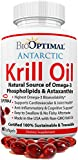 BioOptimal Krill Oil – Antarctic Krill Oil 1000mg Capsules, Omega 3, Astaxanthin, DHA and EPA (60ct) Review