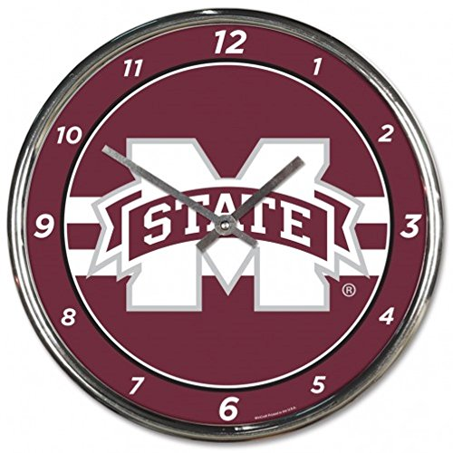 NCAA Mississippi State Bulldogs WinCraft Official Chrome Clock by NCAA