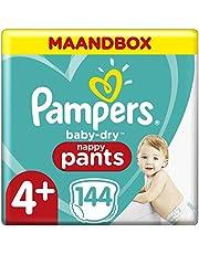 Pampers Baby-Dry Luierbroekjes, MAANDBOX, Eenvoudig En Leuk Verschonen Overdag En Bescherming 's Nachts