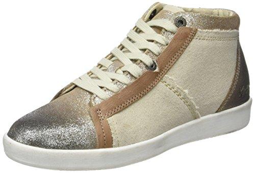 per donna Kickers beige metallizzato beige Happylove sneakers alte xUqcwRp6