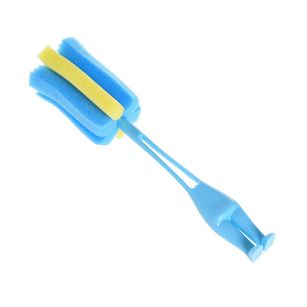 Plastic Long Handle Sponge Brush Foam Sponges Milk Baby Botter Scrubber Sports Bottle Baby Bottle Cleaner