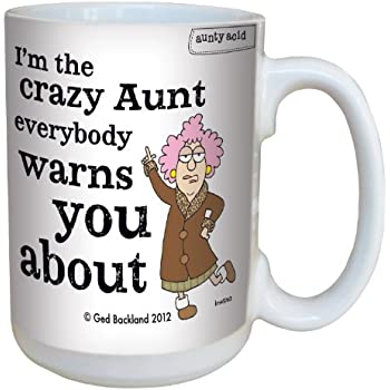 Amazon.com: Hilarious Aunty Acid Crazy Aunt Large Coffee