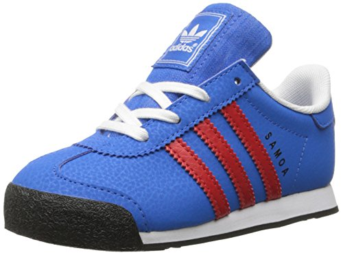 - adidas Originals Samoa I Fashion Sneaker (Infant/Toddler), Bluebird/Poppy/Black, 4 M US Toddler