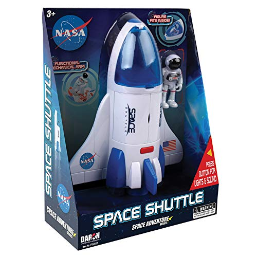 "Daron NASA Space Adventure Series: Space Shuttle with Lights & Sounds & Figure, Approx 9"" X 7"""