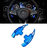 all aluminum steering wheel - Steering Wheel Paddle Shifter Extension For Mercedes Benz, TTCR-II Blue Aluminum-Alloy Shift Paddle Blade (Fits: Benz A Class B Class C Class CLA CLS E Class GLA GLC GLE GLS S Class SL SLE V Class)
