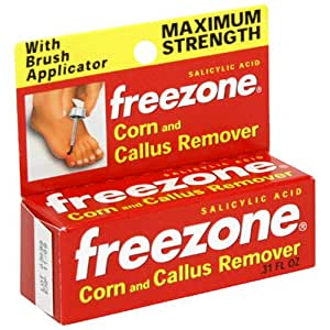 Freezone Corn and Callus Remover, Maximum Strength, 0.31 Ounce