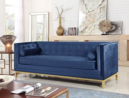 Iconic Home Dafna Club Sofa Sleek Elegant Tufted