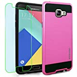 Samsung Galaxy A5 (2016) / A510F Case, INNOVAA Elite Hybrid Series Case (Not Compatible with Samsung Galaxy A5 (2015)) W/ Free Screen Protector & Touch Screen Stylus Pen - Hot Pink