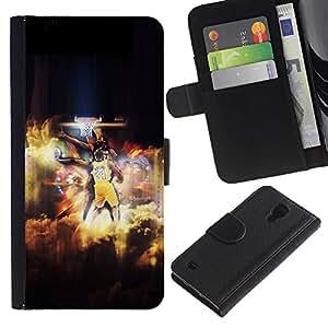 Bryant 24 Basket - la tarjeta de Crédito Slots PU Funda de cuero Monedero caso cubierta de piel Para Samsung Galaxy S4 IV I9500