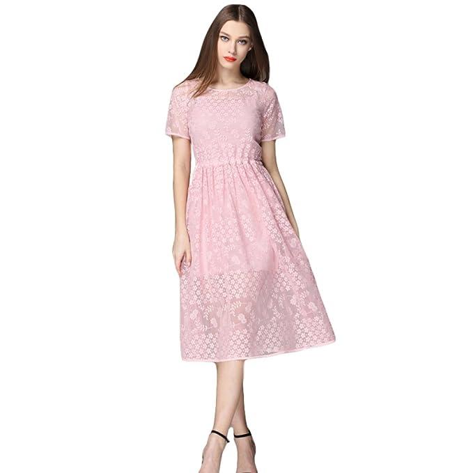 Vestidos de coctel de color rosa