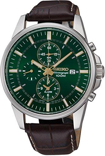 Seiko Chronograph Alarm Dark Green Dial Mens Watch (Sportura Alarm Chronograph)
