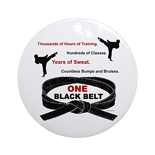 - CafePress ONE Black Belt 1 Ornament (Round) Round Holiday Christmas Ornament