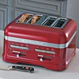 KitchenAid KMT4203CA Candy Apple Red 4-Slice Pro Line Toaster by KitchenAid